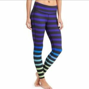 Athleta ombré striped athletic pants